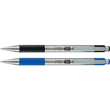 Zebra F-301 Retractable Ballpoint Pen, Fine Tip, 2/Pack