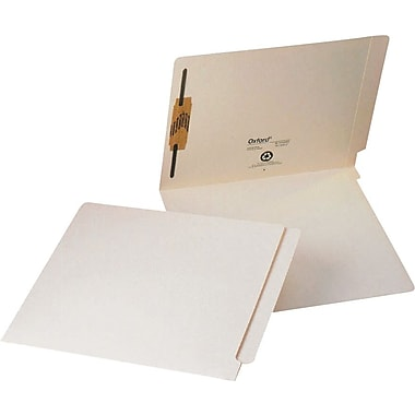 Pendaflex® Laminated End-Tab Folders with Fasteners, Letter Size, Manila