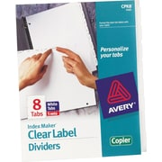 Avery Index Maker® White Dividers with Clear Tab Labels for Copiers