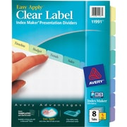 Avery® Index Maker Clear Label Dividers, Pastel Color