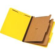 Staples® Pressboard Classification Folders, 2 Dividers, Letter Size, 5/Box