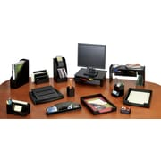Rolodex Mahogany and Black Leather Desk Collection