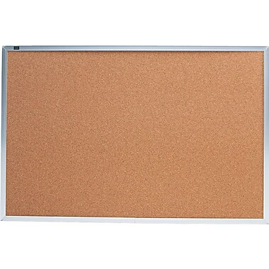 Quartet® Cork Bulletin Boards, Aluminum Frame