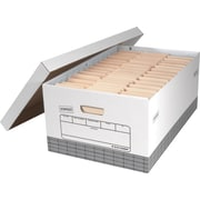 Staples® Medium Duty 50% Recycled Storage Boxes, Legal Size