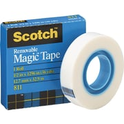 Scotch 811 Removable Magic™ Tape Refill Roll, 36 Yard Rolls