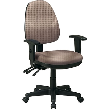 Office Star Custom Ergonomic Fabric Chair with Adjustable Arms