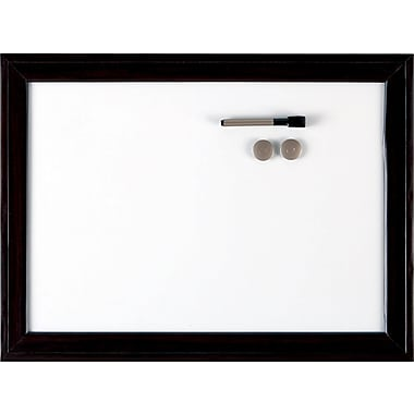 Quartet® Espresso Magnetic Dry-Erase Board, 17