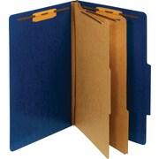 Staples® Moisture-Resistant Classification Folders, 2 Dividers, Legal Size, 10/Box