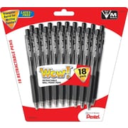 Pentel® WOW® Retractable Ballpoint Pens, Medium Point, 18/Pack