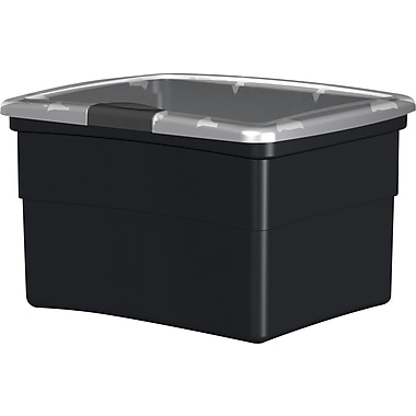 Staples® Plastic Hinged File Boxes w/Lids
