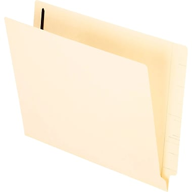 Staples® Manila End Tab Fastener Folders with Reinforced Tab, 1 Fastener in Position 1, 50/Box