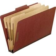 Staples® Pressboard Classification Folders, 3 Dividers, 10/Box