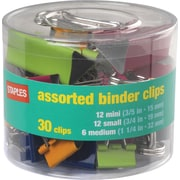 Staples® Assorted Size Binder Clips