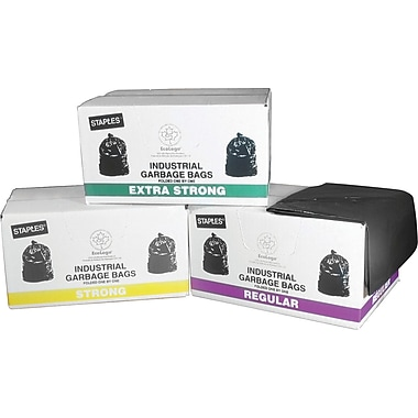 Staples Garbage Bags, Clear, Extra Strong
