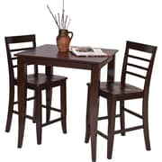 OSP Designs® Jamestown Wooden Pub Stools and Table,  Espresso