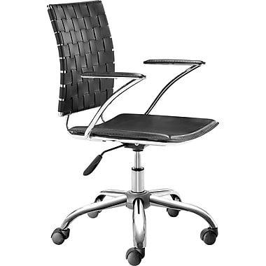 Zuo Products Criss Cross Faux Leather Managers Mid-Back Chairs