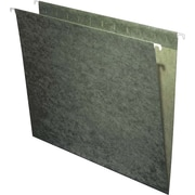 Staples® 100% Recycled Hanging File Folders, Standard Green, No Tabs Included, 25/Box