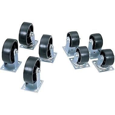 Jobox® 2 Fixed 2 Swivel Heavy Duty Casters