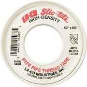 Slic-Tite® 300 in (L) x 4 mil (T) White Premium-Grade Thread Tape, 1/2 in (W)