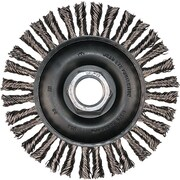ADVANCE BRUSH 0.02 in Wire 4 in (OD) 3/16 in (W) Face Stringer Bead Twist Knot Wheel Brushes