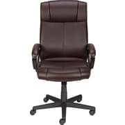 Staples® Turcotte Luxura® High Back Executive Chair, Brown