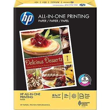 HP® - Papier multi-usages, 22 lb, 8 1/2 po x 11 po, rame