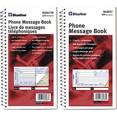 Blueline® Telephone Message Books, 11-1/8