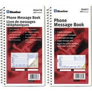 "Blueline® Telephone Message Books, 11-1/8"" x 5-3/4"", 400 Messages"