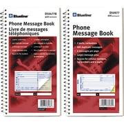 Blueline® - Livrets de messages téléphoniques, 11-1/8 po x 5-3/4 po, 400 messages