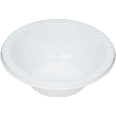 Tablemate® White Plastic Bowls