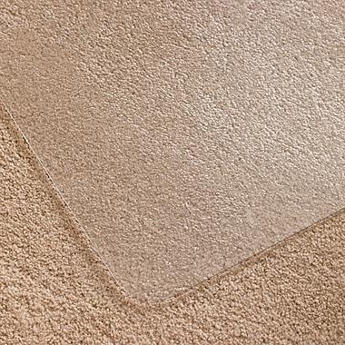 ClearTex – Sous-chaise en polycarbonate incolore, sans rebord, rectangulaire, pour tapis à poil bas/moyen, 35 po x 47 po