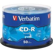Verbatim® CD-R 52x 700MB/80min, 50-Pack Spindle