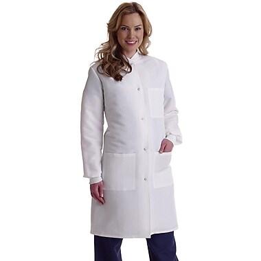 Medline ResiStat Women Full Length Lab Coat, White (MDT046815)