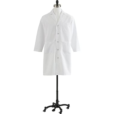 Medline Men Full Length Lab Coat, White (MDT14WHT)