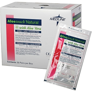 Aloetouch® Natural Powder-free Latex Surgical Gloves