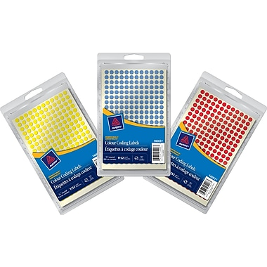 Avery® Round Colour-Coding Labels, 1/4