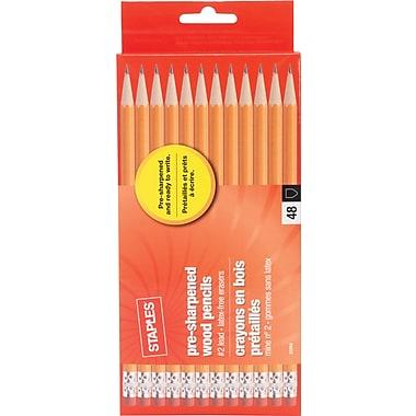 Staples® Pre-Sharpened #2 Yellow Pencils, 4 Dozen