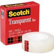 Scotch® 600 Transparent Tape Refill Rolls, 36 Yard Rolls
