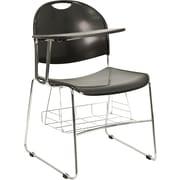 Flash Furniture Plastic High Density Black Arm Chair