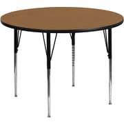 Flash Furniture 21 1/8'' - 30 1/8'' H x 48'' W x 48'' D Steel Round Activity Tables