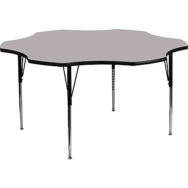 Flash Furniture – Table d'activités fleur à surface en stratifié de 60 po, pattes standards à hauteur ajustable