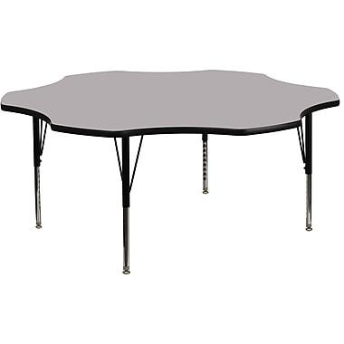 Flash Furniture – Table d'activités fleur de 60 po à surface en stratifié thermofusionné et pattes préscolaires ajustables