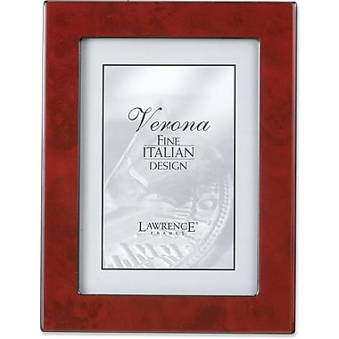 Lawrence Frames Verona Collection Wooden Burgundy Burl Picture Frame (6202)