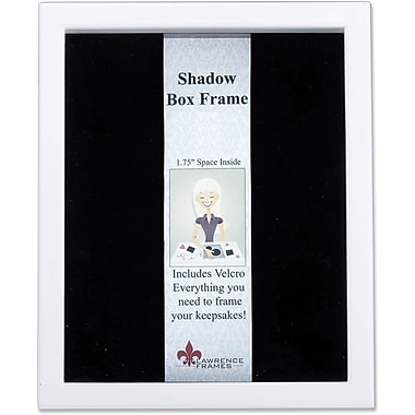 Lawrence Frames Wood Black Shadow Box Picture Frame (7950)