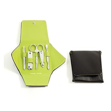 Bey-Berk 5-Piece Leather Metal Frames Set