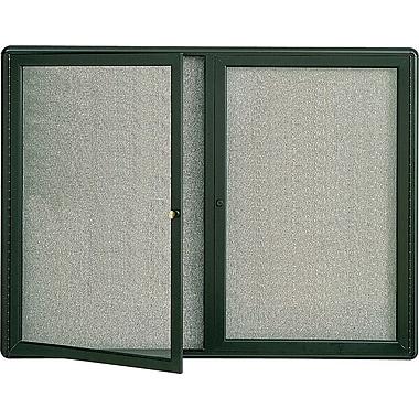 Quartet® Enclosed Radius Fabric Bulletin Boards, Graphite Frame