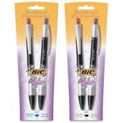 BiC For Her Retractable Gel Pens, 0.7 mm