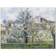 "Trademark Global Camille Pissarro ""The Garden at Pontoise 1877"" Canvas Arts"