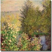 "Trademark Global Claude Monet ""Corner of the Garden at Montgeron, 1876"" Canvas Arts"