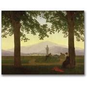 "Trademark Global Caspar David Friedrich ""Garden Terrace, 1811"" Canvas Arts"